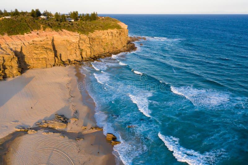 Redhead-Strand - Newcastle Australien lizenzfreie stockfotos