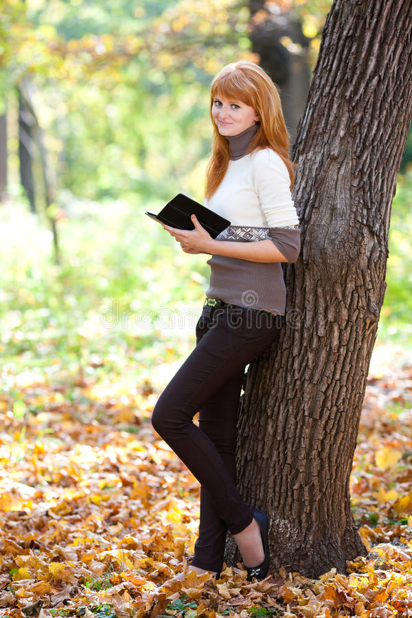 Download Redhead Teenager Woman Reading A Book Stock Image - Image: 27713605