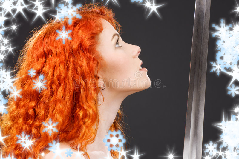 Download Redhead warrior stock photo. Image of lady, attractive - 6772090