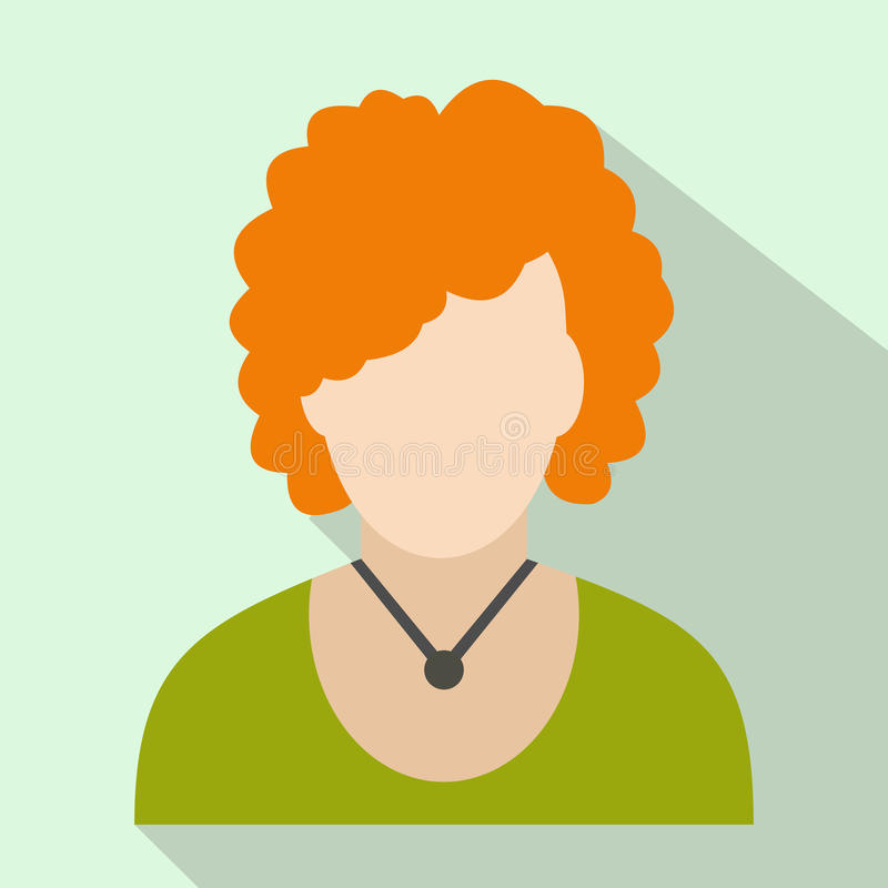 Redhead woman avatar icon royalty free illustration