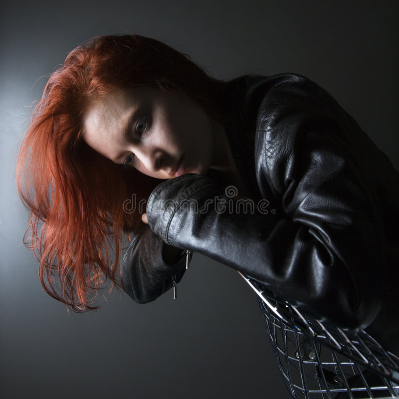 Download Redhead young woman. stock photo. Image of head, photograph - 3469624