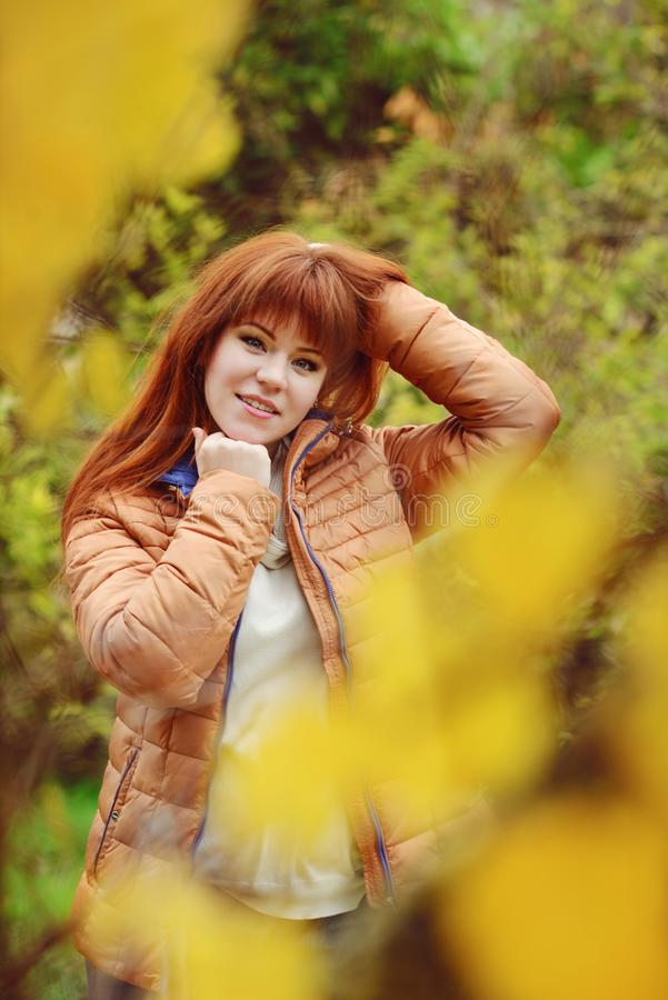 Redhead young woman stock photos