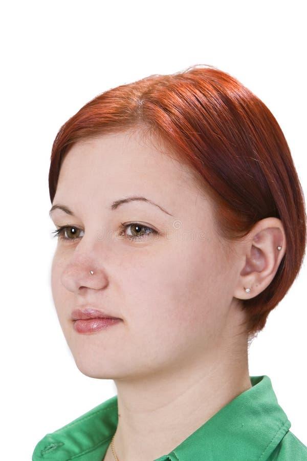 redheaded flickastående arkivfoton