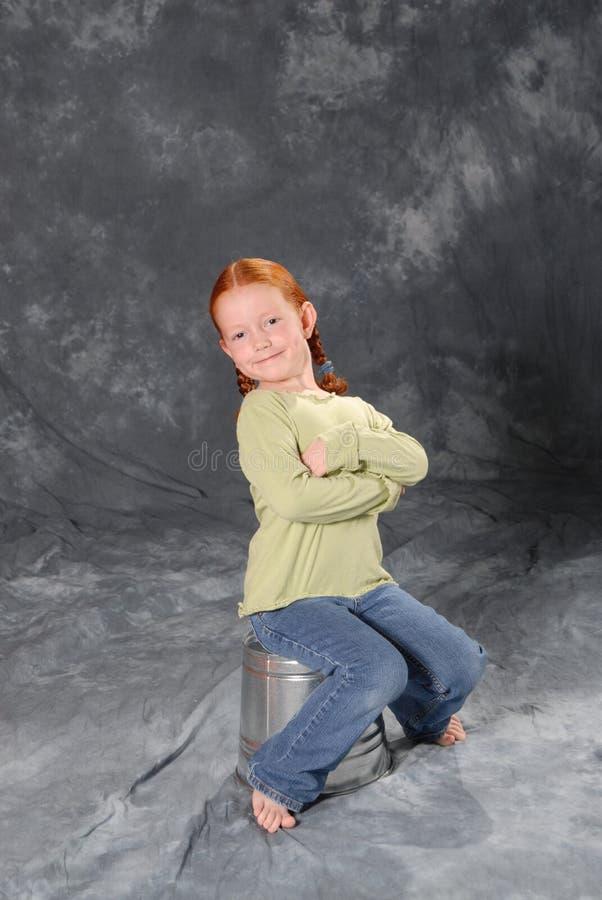 Redheaded Girl stock image