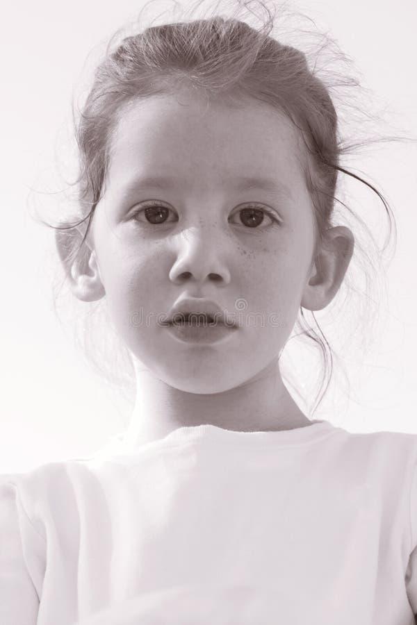 Redheaded girl stock photo
