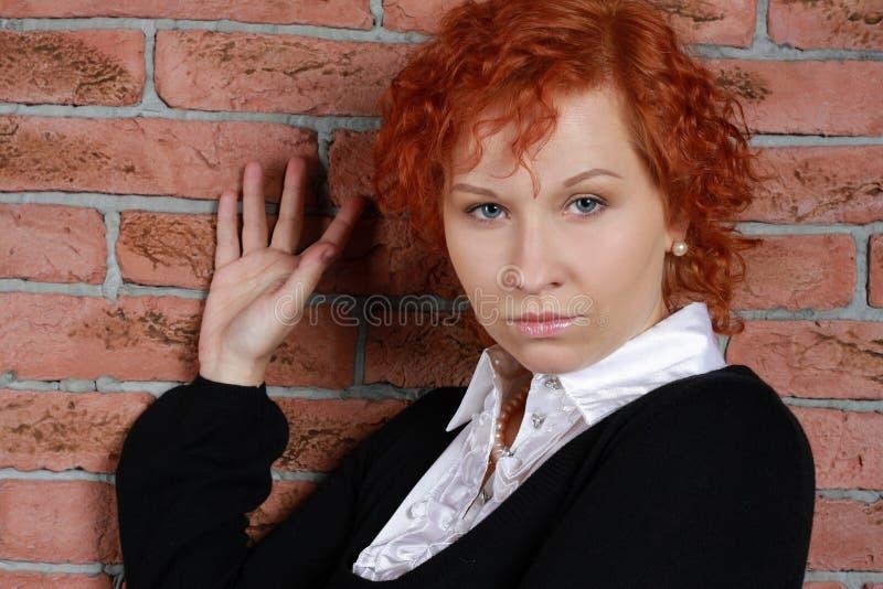 redheaded kvinnabarn royaltyfri fotografi