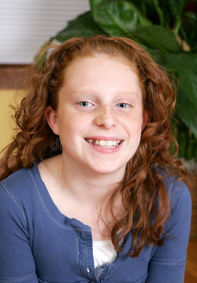 Redheaded Mädchen stockfotos