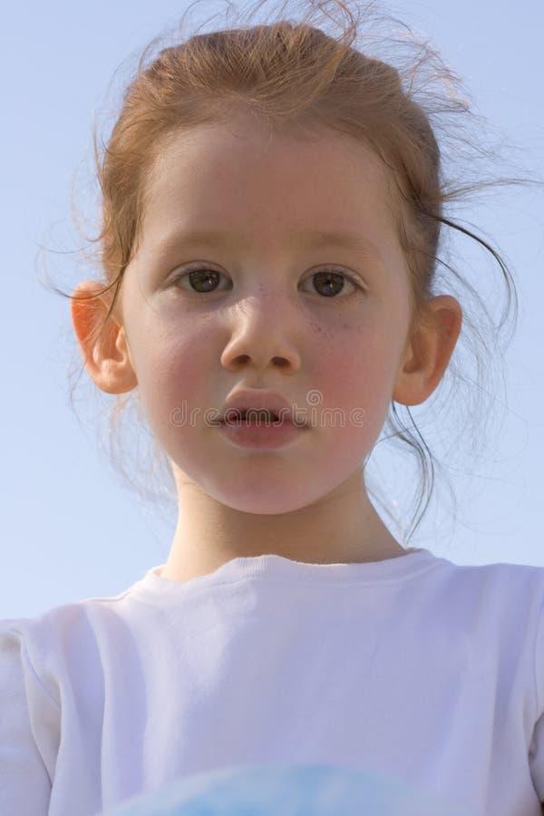 Redheaded meisje royalty-vrije stock foto