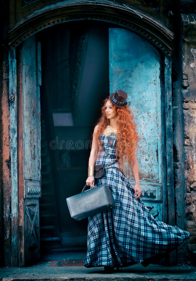 Redheaded woman royalty free stock images