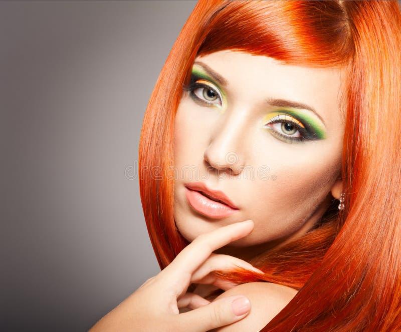 Redheadfrau stockbilder