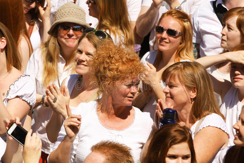 Redheads people portrait royalty free stock image