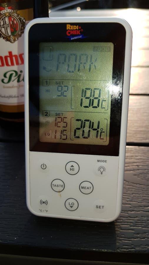 Redi Chek BBQ-Thermometer stockbilder