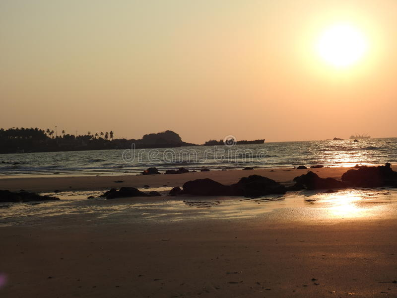 Redi strand, Goa fotografering för bildbyråer