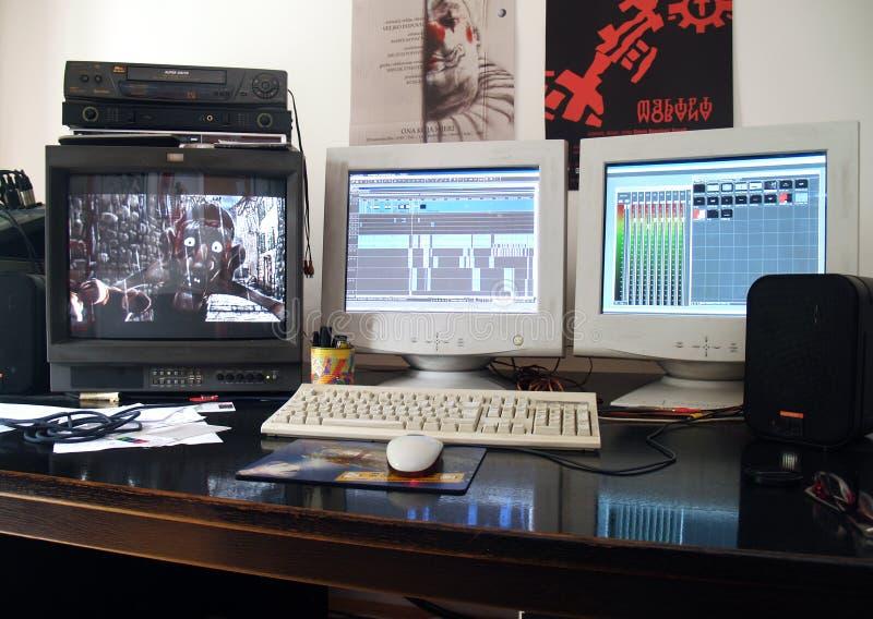 redigera den professional studion royaltyfri bild