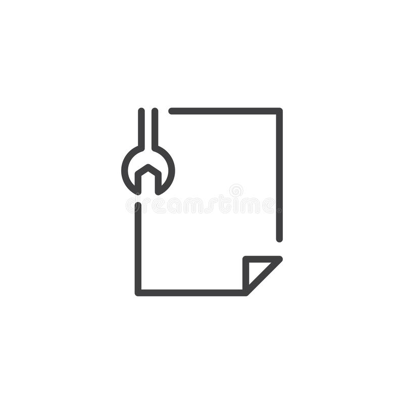 Redigera hjälpmedel sparar dokumentöversiktssymbolen vektor illustrationer