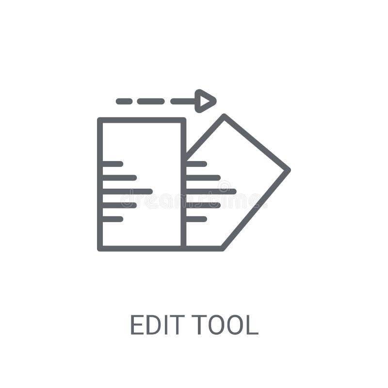 Redigera hjälpmedelsymbolen Moderiktigt redigera hjälpmedellogobegreppet på vit backgroun royaltyfri illustrationer
