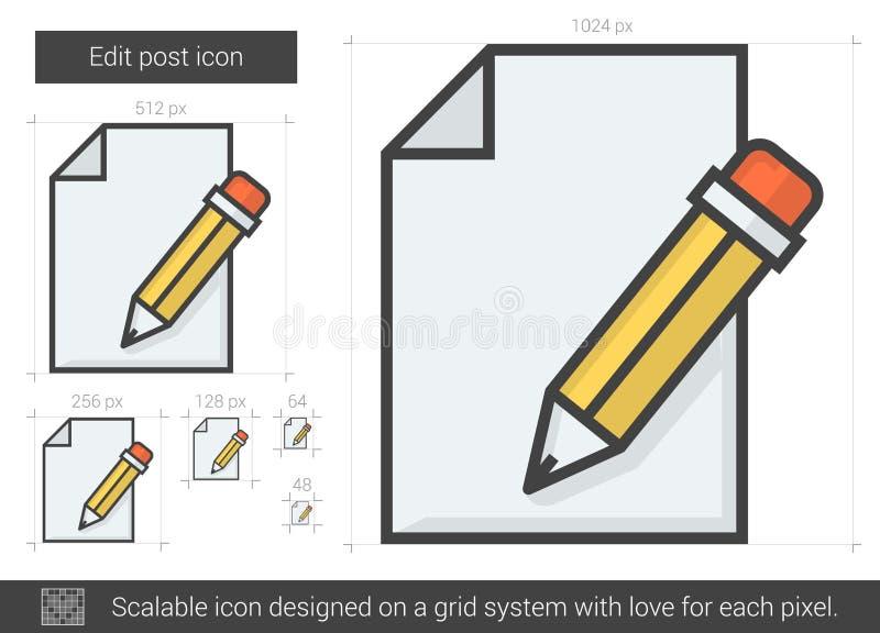 Redigera stolpelinjen symbol royaltyfri illustrationer