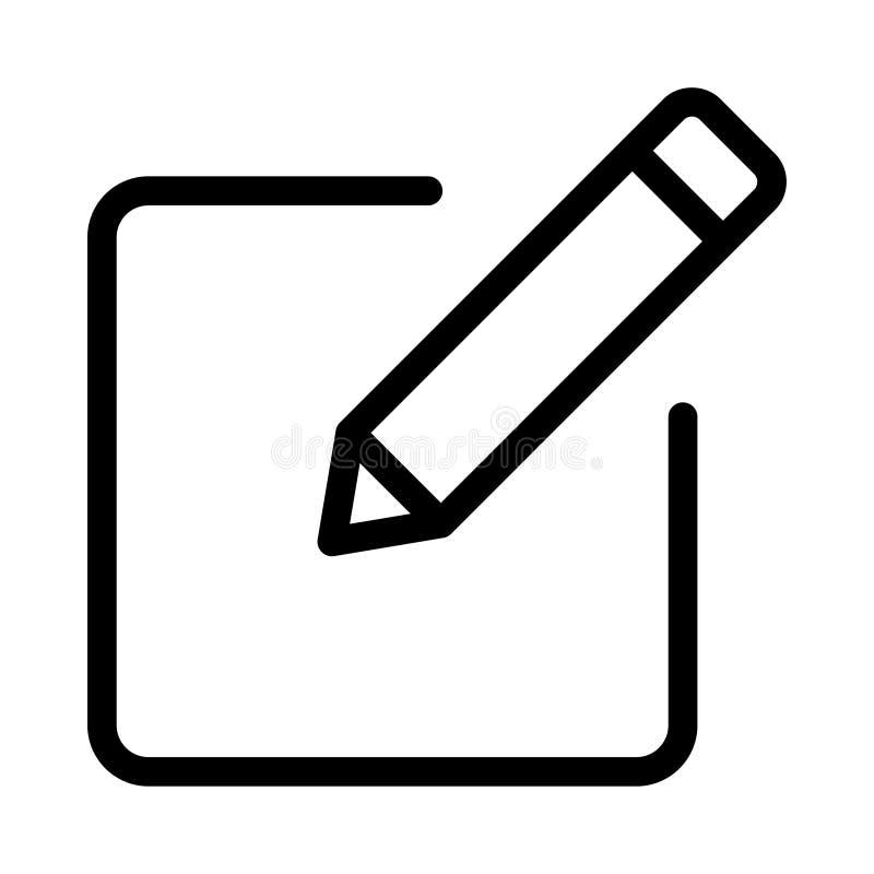 redigera symbolen royaltyfri illustrationer