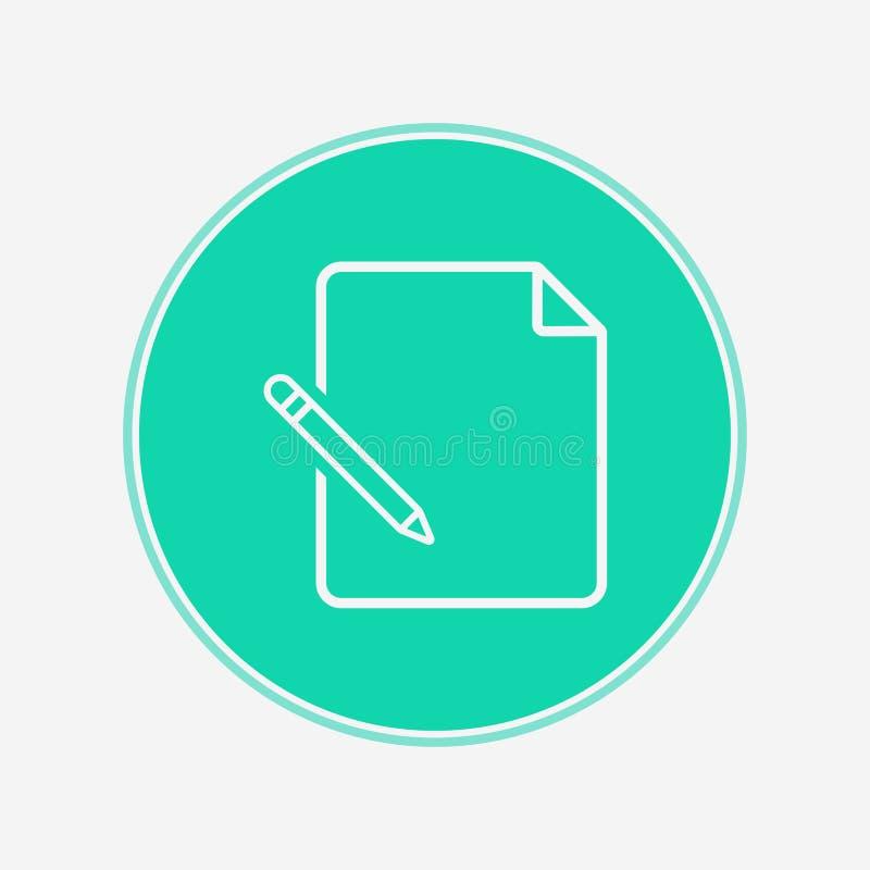 Redigera symbolet för vektorsymbolstecknet royaltyfri illustrationer