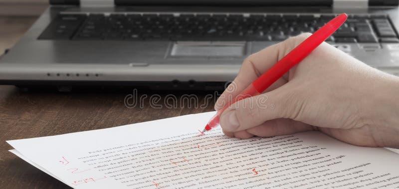 redigera text arkivfoto