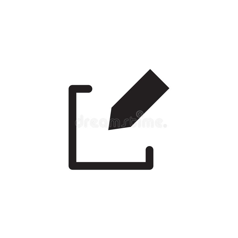 Redigera vektorsymbolen EPS 10 vektor illustrationer