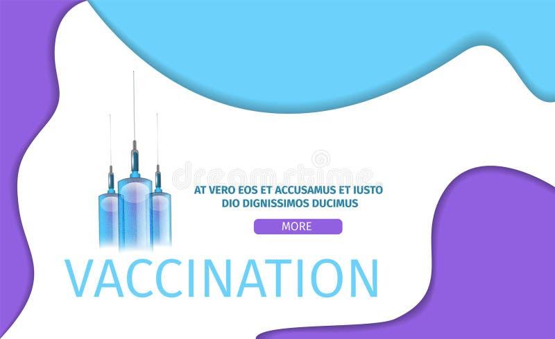 Redigerbar bakgrund för vaccineringapplikation royaltyfri illustrationer