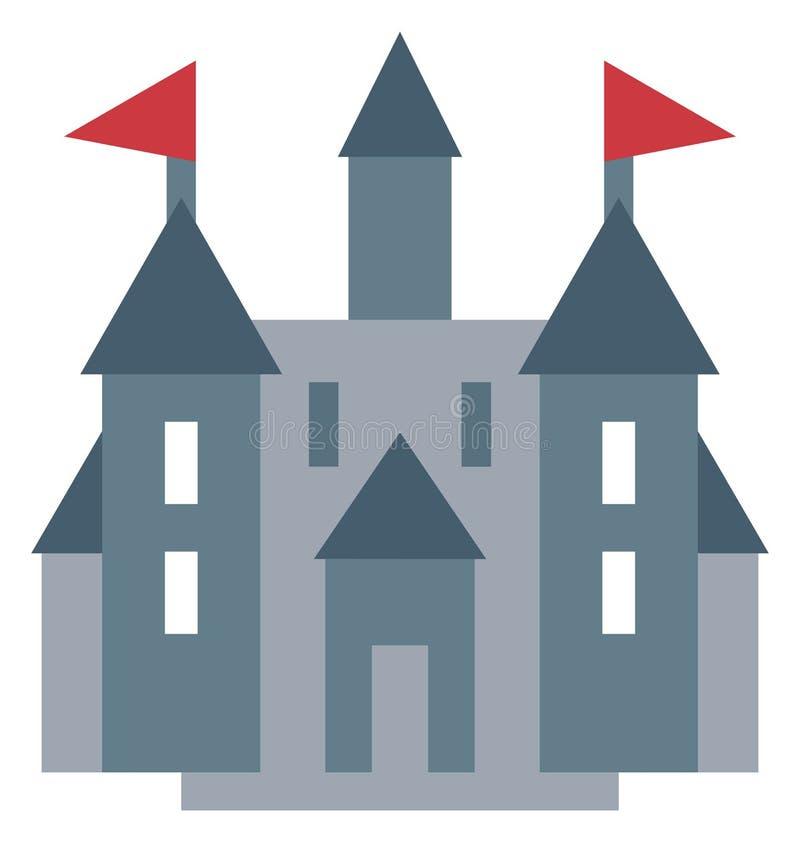 Redigerbar isolerad symbol för slottfärg vektor vektor illustrationer