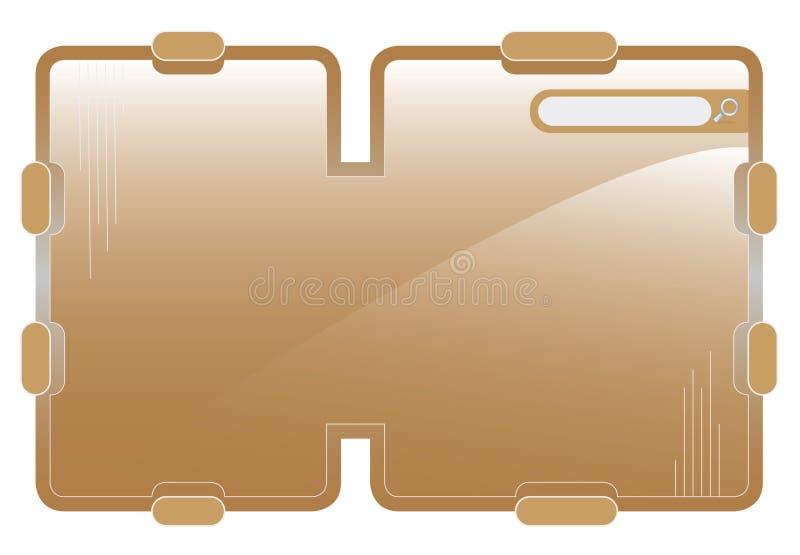 redigerbar mallrengöringsduk royaltyfri illustrationer