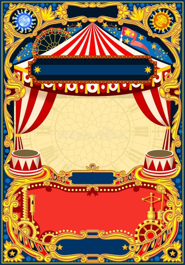 Redigerbar ramvektor för cirkus royaltyfri illustrationer