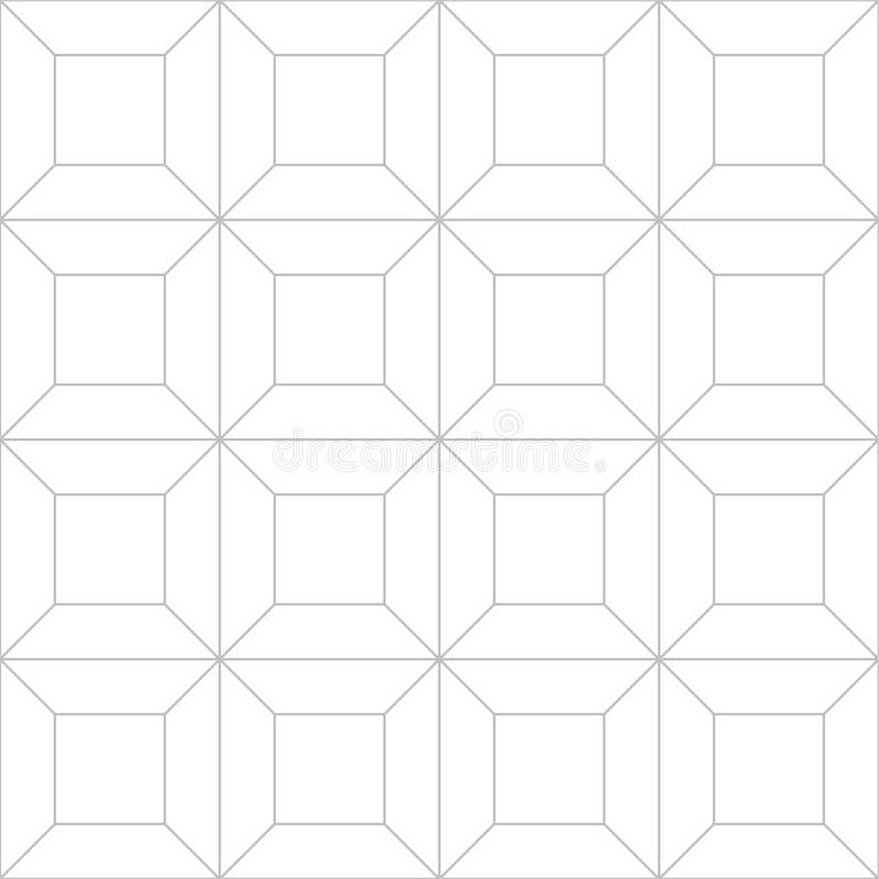 Redigerbar sömlös geometrisk modelltegelplatta vektor illustrationer