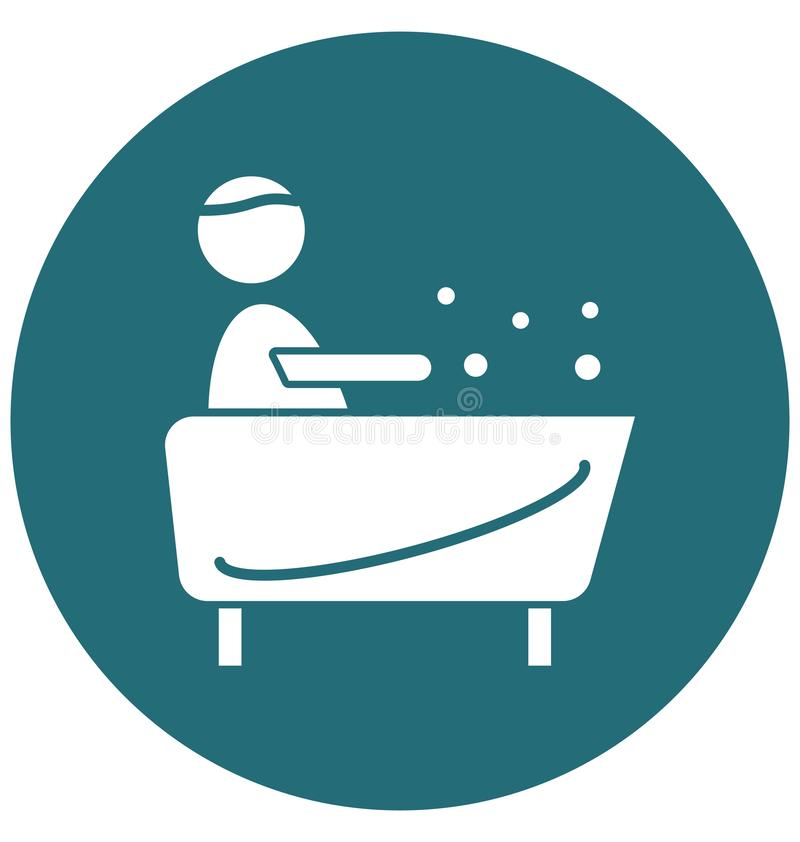 Redigerbar symbol för bastuisolatvektor royaltyfri illustrationer