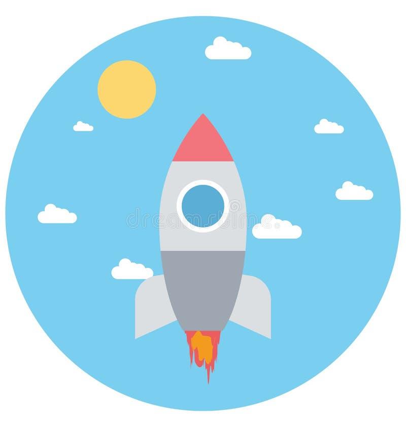 Redigerbart för den Rocket Illustration Color Vector Isolated symbolen turnerar lätt och specialt bruk för fritid, lopp och vektor illustrationer