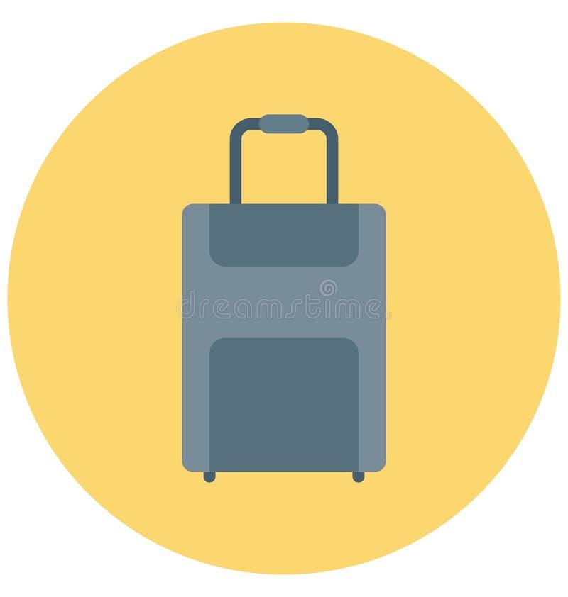 Redigerbart för symbol för bagageillustrationfärg turnerar vektorn isolerat lätt och specialt bruk för fritid, lopp och stock illustrationer