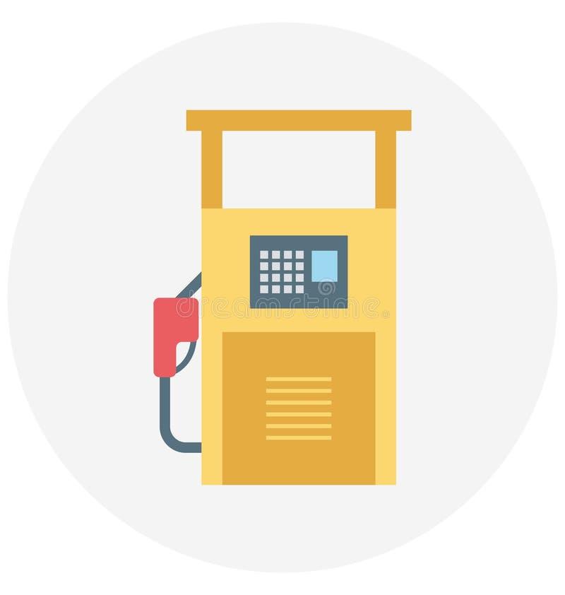 Redigerbart för symbol för bensinstationillustrationfärg turnerar vektorn isolerat lätt och specialt bruk för fritid, lopp och stock illustrationer