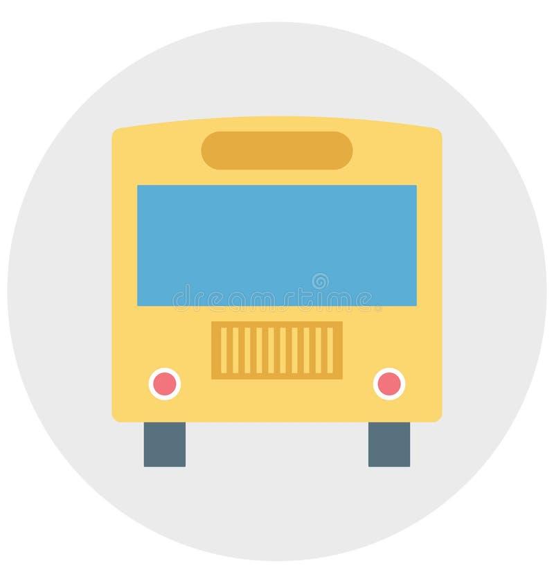 Redigerbart för symbol för bussillustrationfärg turnerar vektorn isolerat lätt och specialt bruk för fritid, lopp och vektor illustrationer
