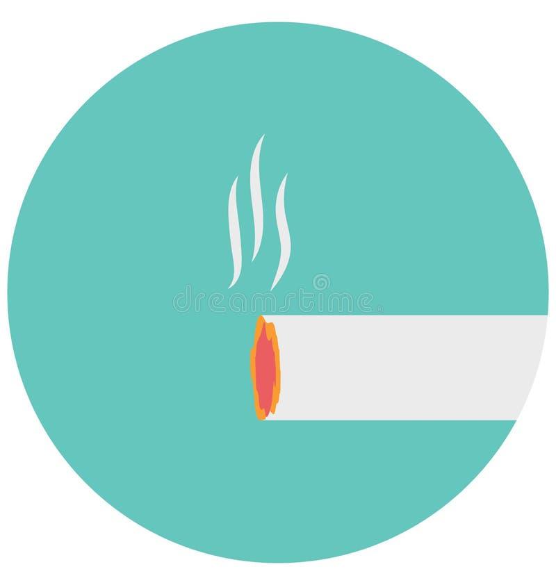 Redigerbart för symbol för cigarettillustrationfärg turnerar vektorn isolerat lätt och specialt bruk för fritid, lopp och stock illustrationer