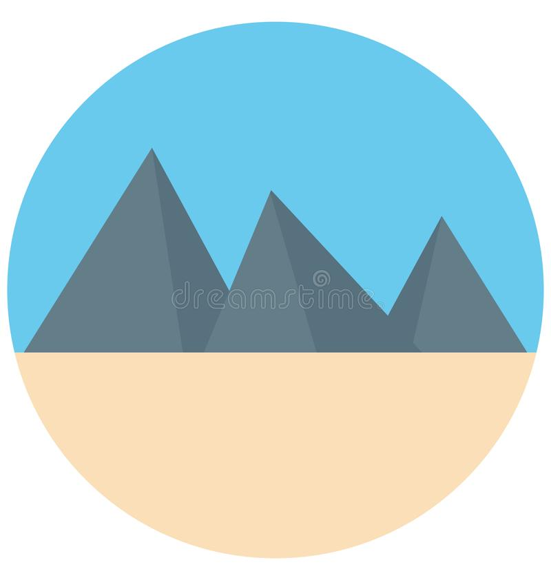 Redigerbart för symbol för färg för Egypten pyramidillustration turnerar vektorn isolerat lätt och specialt bruk för fritid, lopp royaltyfri illustrationer