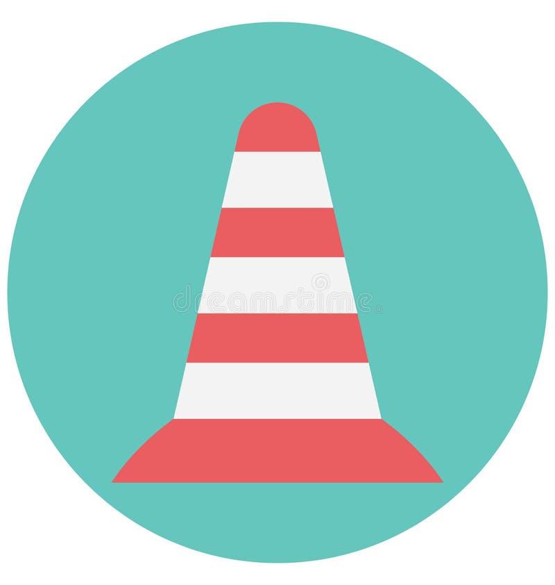 Redigerbart för symbol för färg för trafikkotteillustration turnerar vektorn isolerat lätt och specialt bruk för fritid, lopp och stock illustrationer