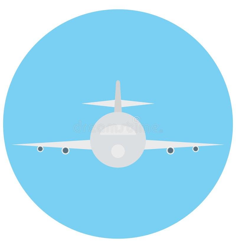 Redigerbart för symbol för flygplanillustrationfärg turnerar vektorn isolerat lätt och specialt bruk för fritid, lopp och royaltyfri illustrationer