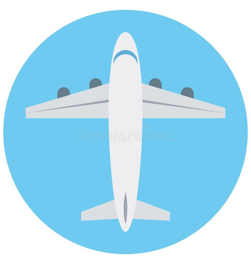 Redigerbart för symbol för flygplanillustrationfärg turnerar vektorn isolerat lätt och specialt bruk för fritid, lopp och stock illustrationer