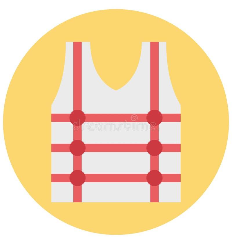 Redigerbart för symbol för flytvästillustrationfärg turnerar vektorn isolerat lätt och specialt bruk för fritid, lopp och vektor illustrationer