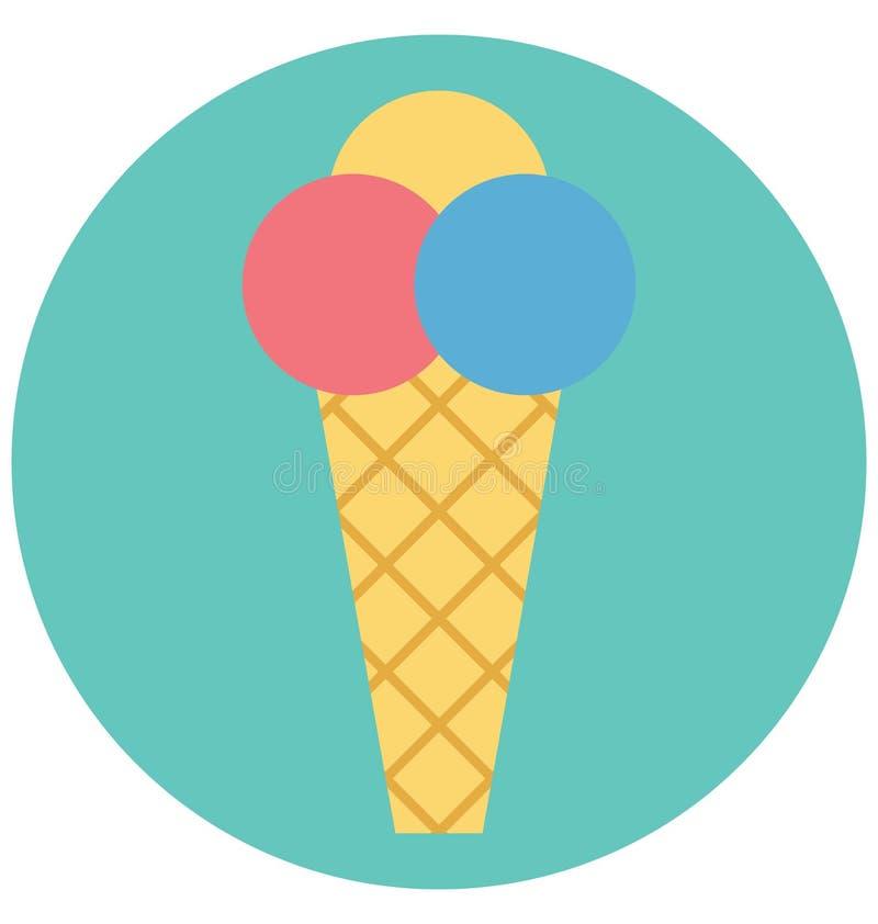 Redigerbart för symbol för glassillustrationfärg turnerar vektorn isolerat lätt och specialt bruk för fritid, lopp och vektor illustrationer