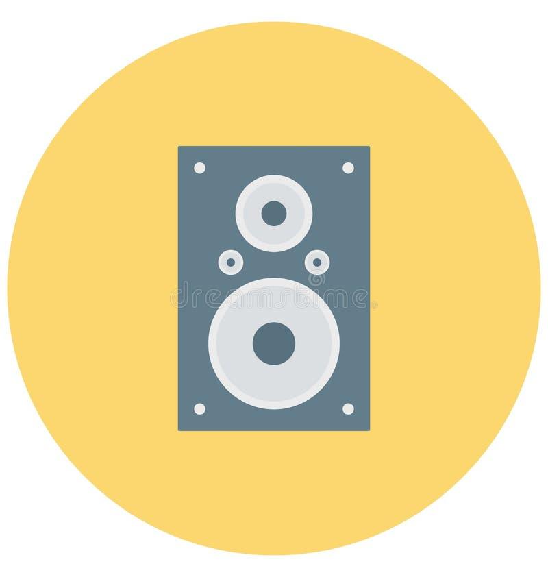 Redigerbart för symbol för högtalareillustrationfärg turnerar vektorn isolerat lätt och specialt bruk för fritid, lopp och royaltyfri illustrationer