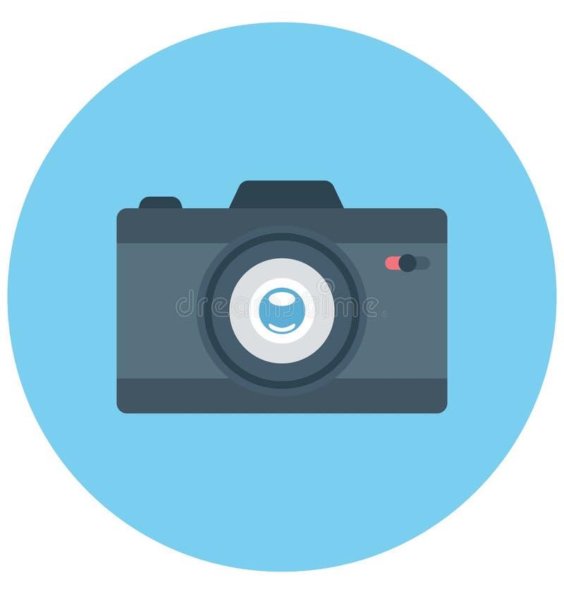 Redigerbart för symbol för kameraillustrationfärg turnerar vektorn isolerat lätt och specialt bruk för fritid, lopp och royaltyfri illustrationer