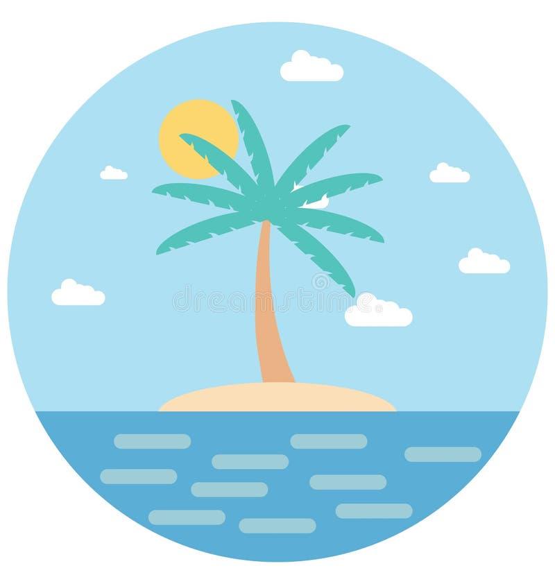 Redigerbart för symbol för palmträdillustrationfärg turnerar vektorn isolerat lätt och specialt bruk för fritid, lopp och royaltyfri illustrationer