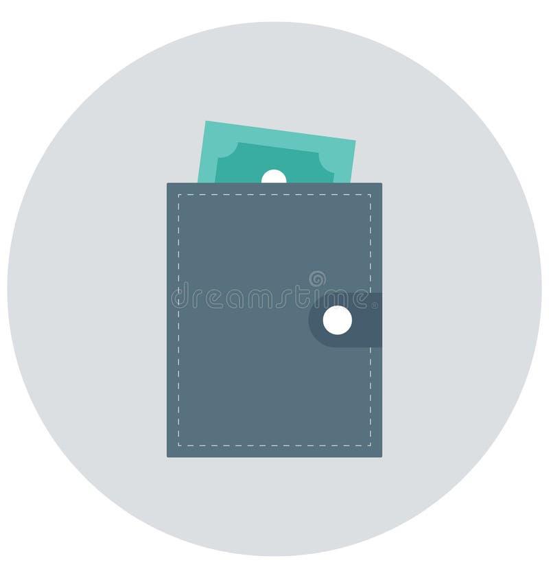 Redigerbart för symbol för plånbokillustrationfärg turnerar vektorn isolerat lätt och specialt bruk för fritid, lopp och vektor illustrationer