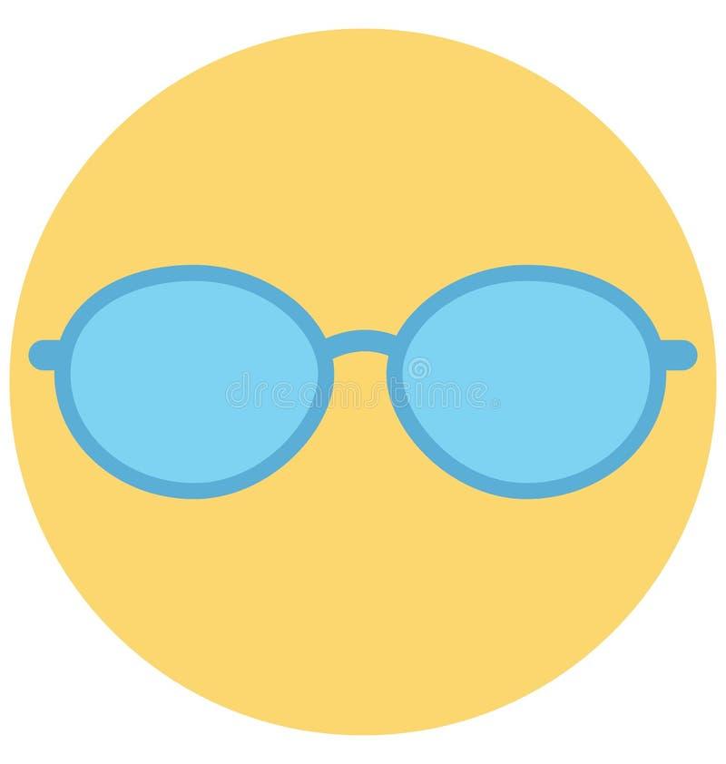 Redigerbart för symbol för solglasögonillustrationfärg turnerar vektorn isolerat lätt och specialt bruk för fritid, lopp och vektor illustrationer