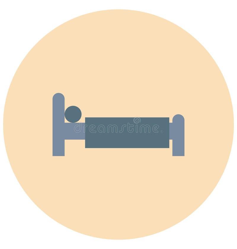 Redigerbart för symbol för sovrumillustrationfärg turnerar vektorn isolerat lätt och specialt bruk för fritid, lopp och stock illustrationer