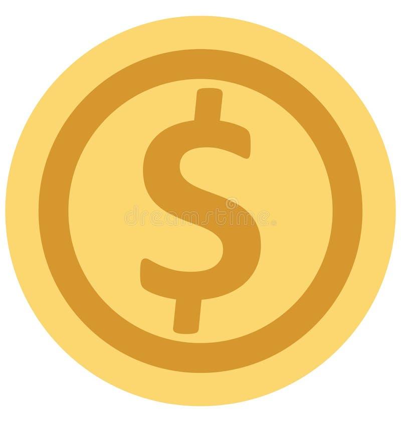 Redigerbart för symbol för valutaillustrationfärg turnerar vektorn isolerat lätt och specialt bruk för fritid, lopp och royaltyfri illustrationer