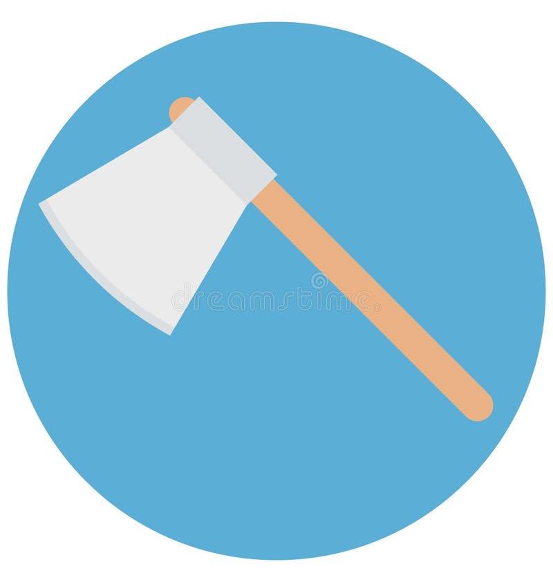 Redigerbart för symbol för yxaillustrationfärg turnerar vektorn isolerat lätt och specialt bruk för fritid, lopp och stock illustrationer